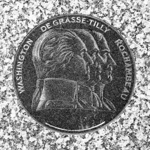 Washington, De Grasse and Rochambeau