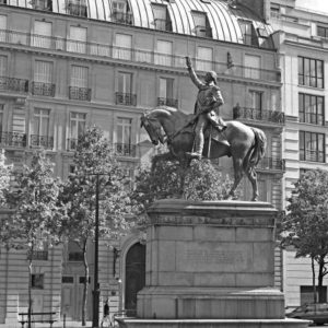 Statue of George Washington at the Place d'Iena.