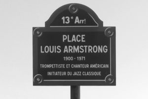 Place Louis Armstrong plaque